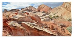 Valley Of Fire High Country Hand Towel by Ray Mathis