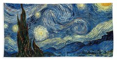 Van Gogh Starry Night Hand Towel