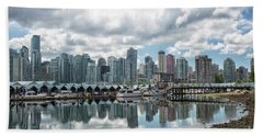 Vancouver Skyline Hand Towel by Patricia Hofmeester
