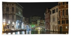 Hand Towel featuring the photograph Romantic Venice  by Silvia Bruno