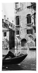 Hand Towel featuring the photograph Venice Canal, 1969 by Granger