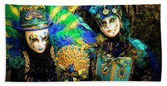 Bath Towel featuring the photograph Venice Carnival I '17 by Yuri Santin