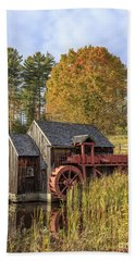 Bath Towel featuring the photograph Vermont Grist Mill by Edward Fielding
