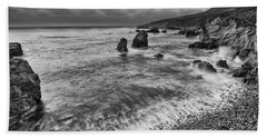 View Of The Rocky Coast From Soberanes Point In Garrapata State  Hand Towel