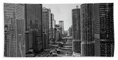 View On Chicago Bridges Bath Towel