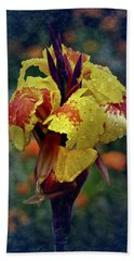 Vintage Canna Lily Hand Towel
