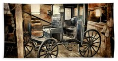 Vintage Horse Drawn Carriage  Bath Towel