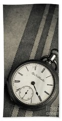 Bath Towel featuring the photograph Vintage Pocket Watch by Edward Fielding