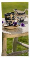 Vintage Teacups Hand Towel