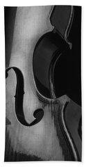 Violin In Black And White Bath Towel