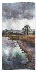 Walden Ponds On An April Evening Hand Towel
