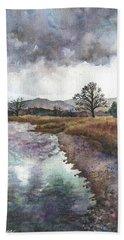 Walden Ponds On An April Evening Bath Towel