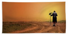 Walk Hand Towel by Charuhas Images
