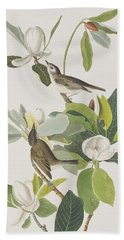 Warbling Flycatcher Hand Towel by John James Audubon