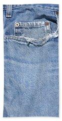 Worn Jeans Bath Towel