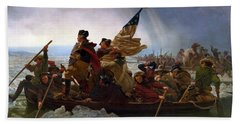 Washington Crossing The Delaware Hand Towel by Emanuel Leutze