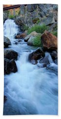 Hand Towel featuring the photograph Water Under The Bridge by Sean Sarsfield