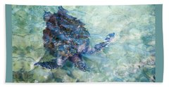 Watercolor Turtle Hand Towel
