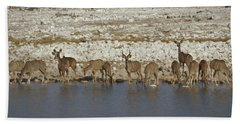 Bath Towel featuring the digital art Waterhole Kudu by Ernie Echols