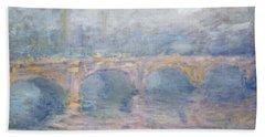 Waterloo Bridge London At Sunset Bath Towel