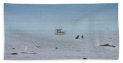 Whales At Sea Hand Towel