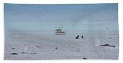 Whales At Sea Bath Towel