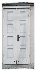 White Door Hand Towel by Tom Gowanlock