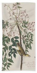 White-eyed Flycatcher Hand Towel by John James Audubon