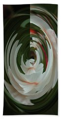 Hand Towel featuring the photograph White Form by Nareeta Martin