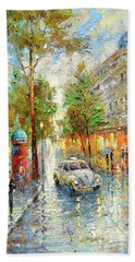 White Taxi Hand Towel