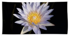 Bath Towel featuring the photograph White Water Lily by Steve Stuller