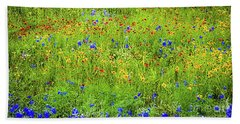 Bath Towel featuring the photograph Wildflowers In Bloom by D Davila
