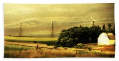 Hand Towel featuring the photograph Wind Turbines by Julie Hamilton
