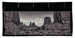 Hand Towel featuring the photograph Window Into Monument Valley by Eduard Moldoveanu