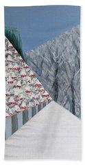 Winter Landscape With Rowan Trees Bath Towel by Tamara Savchenko