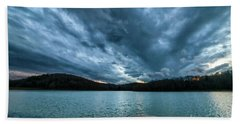 Bath Towel featuring the photograph Winter Storm Clouds by Thomas R Fletcher