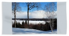 Winter View Of Sister Bay Hand Towel by David T Wilkinson