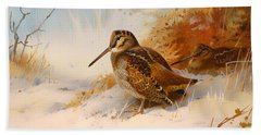 Winter Woodcock Hand Towel by Mountain Dreams
