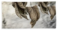 Withered Leaves Hand Towel