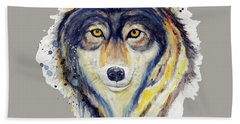 Wolf Head Hand Towel