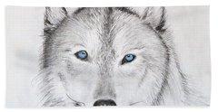 Wolf Hand Towel by Tamara Savchenko