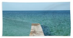 Bath Towel featuring the photograph Wooden Bath Pier by Kennerth and Birgitta Kullman
