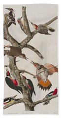 Woodpeckers Bath Towel