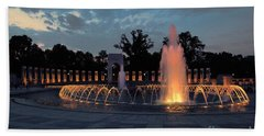 World War II Memorial Fountain Bath Towel