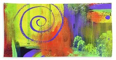 Yellow Abstract Hand Towel