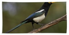 Yellow-billed Magpie Bath Towel
