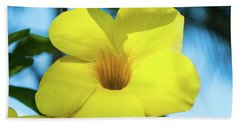 Yellow Flower Hand Towel by James Gay