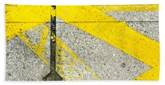 Yellow Lines Bath Towel