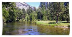 Yosemite Lazy River Hand Towel