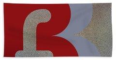 Your Name - B F Or F B Monogram Bath Towel